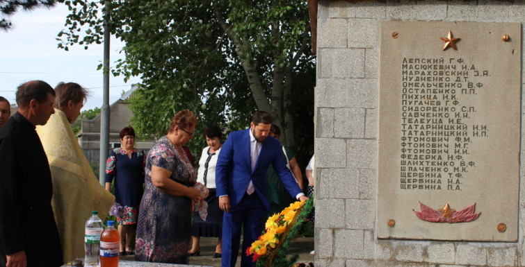 Александр Урбанский посетил Броску и вместе с жителями почтил память погибших во Второй мировой войне